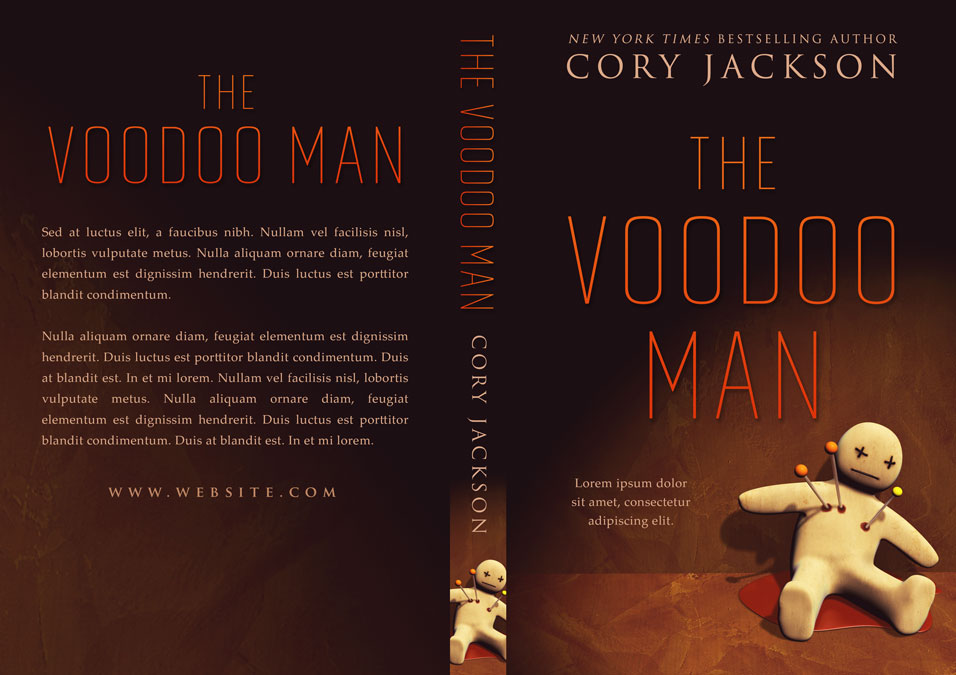 The Voodoo Man - Horror Premade Book Cover For Sale @ Beetiful Book Covers
