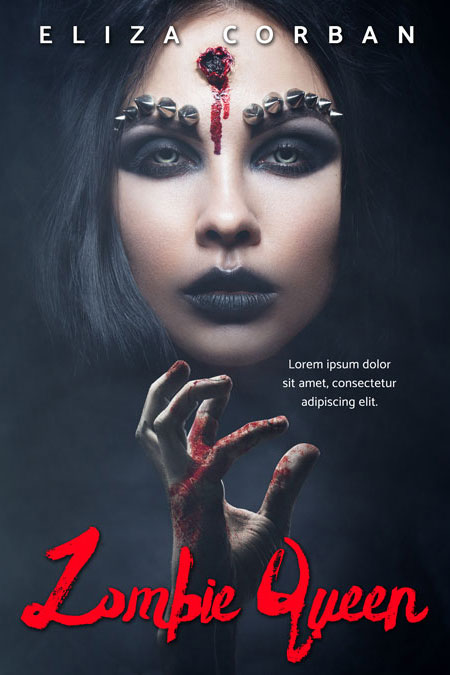 Zombie Queen - Horror / Thriller Premade Book Cover For Sale @ Beetiful Book Covers