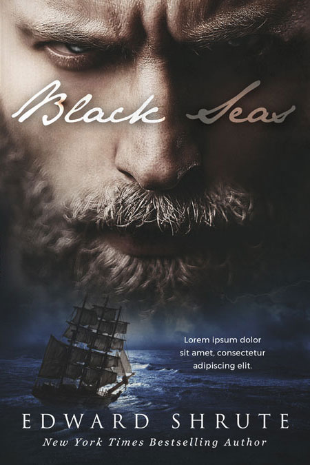 Black Seas - Fantasy / Pirate Premade Book Cover For Sale @ Beetiful Book Covers