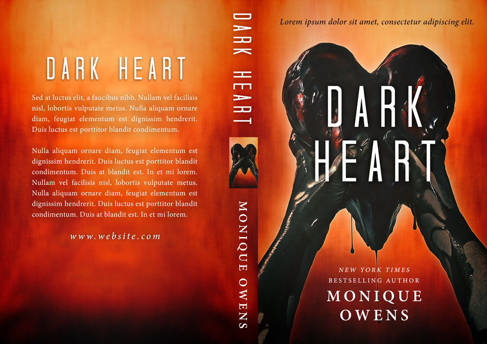 Dark Heart - Horror /Thriller Premade Book Cover For Sale @ Beetiful Book Covers