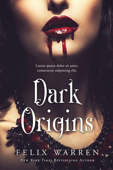 Dark Origins - Horror / Vampire Premade Book Cover For Sale @ Beetiful Book Covers