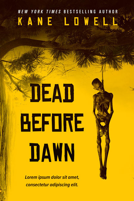 Illustrated Premade Book Covers : Dead before dawn horror thriller premade book cover