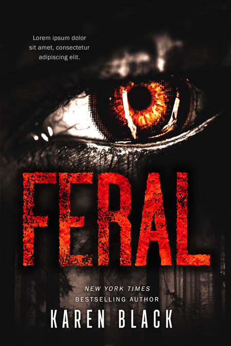Feral - Horror Premade Book Cover For Sale @ Beetiful Book Covers