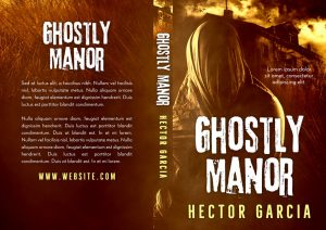 Ghostly Manor - Horror Premade Book Cover For Sale @ Beetiful Book Covers