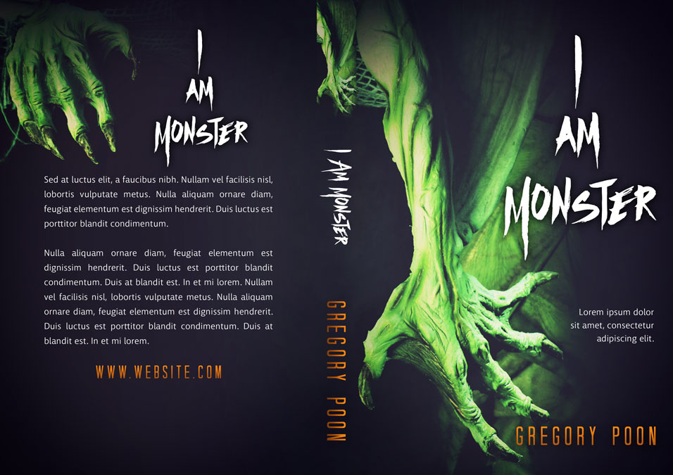 I Am Monster - Horror / Fantasy Premade Book Cover For Sale @ Beetiful Book Covers
