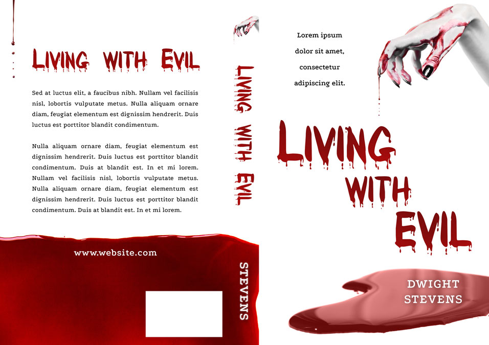 Living with Evil - Horror Premade Book Cover For Sale @ Beetiful Book Covers