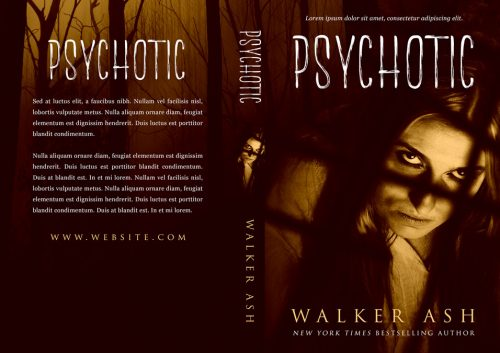 Psychotic - Psychological Thriller Premade Book Cover For Sale @ Beetiful Book Covers
