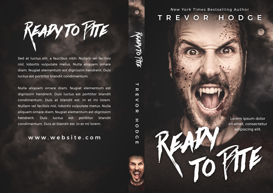 Ready To Bite - Horror / Vampire Premade Book Cover For Sale @ Beetiful Book Covers
