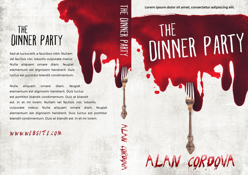 The Dinner Party - Horror Premade Book Cover For Sale @ Beetiful Book Covers