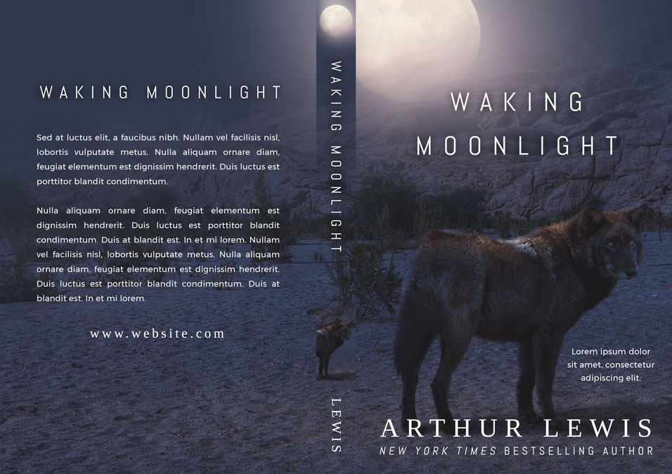 Waking Moonlight - Horror / Werewolf Premade Book Cover For Sale @ Beetiful Book Covers