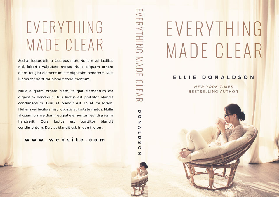 Everything Made Clear - Women's Fiction Premade Book Cover For Sale @ Beetiful Book Covers