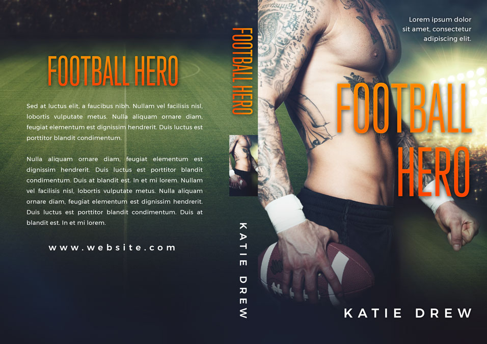 Football Hero - Sports Romance Premade Book Cover For Sale @ Beetiful Book Covers