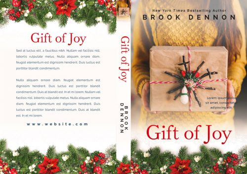 Gift of Joy - Christmas Women's Fiction Premade Book Cover For Sale @ Beetiful Book Covers