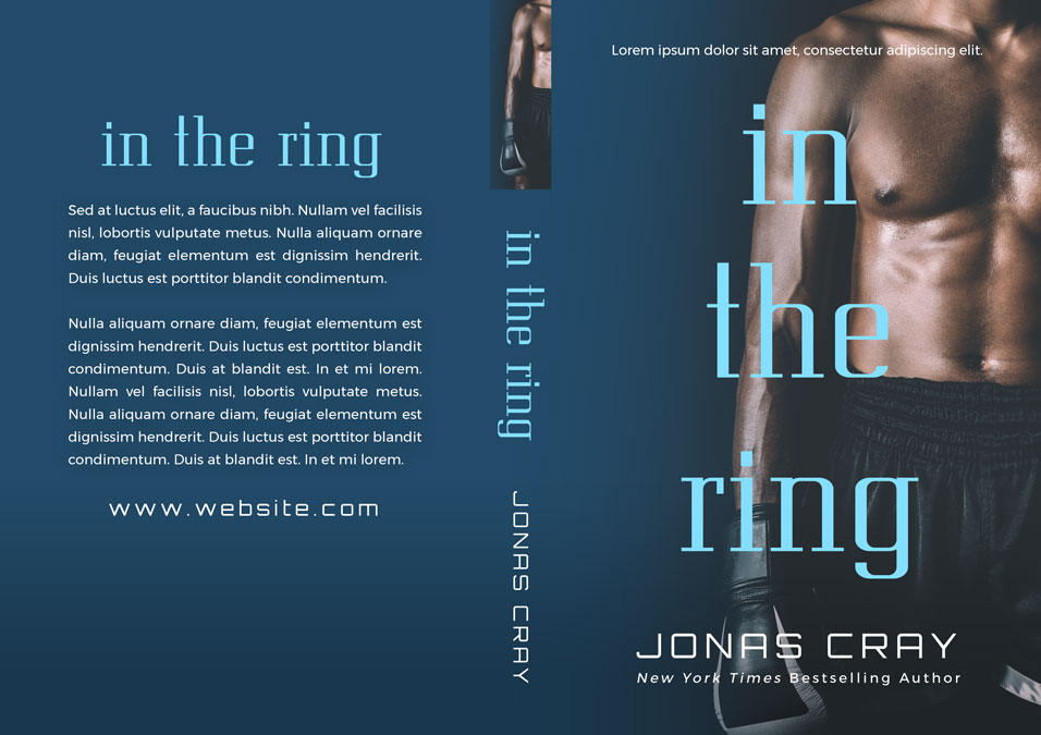 In The Ring - African-American Boxing Premade Book Cover For Sale @ Beetiful Book Covers