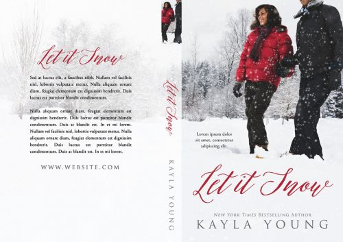Let It Snow - Winter African-American Romance Premade Book Cover For Sale @ Beetiful Book Covers