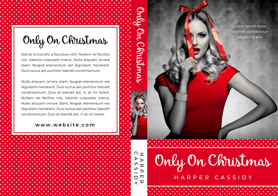 Only On Christmas - Christmas Chicklit Premade Book Cover For Sale @ Beetiful Book Covers