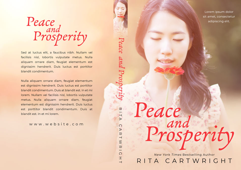 Peace and Prosperity - Asian-American Women's Fiction Premade Book Cover For Sale @ Beetiful Book Covers
