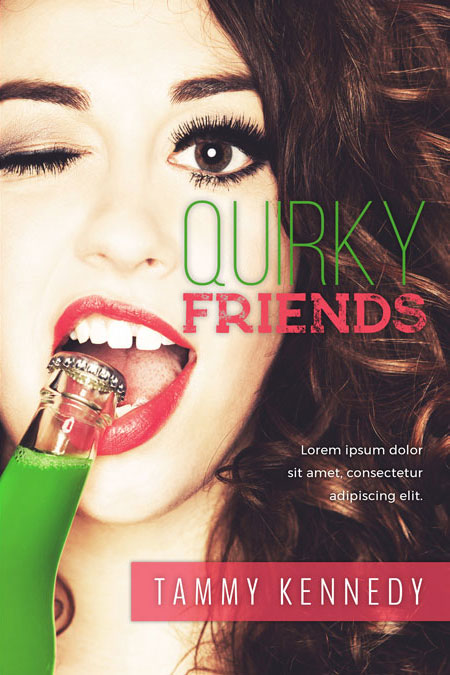 Quirky Friends - Chicklit Premade Book Cover For Sale @ Beetiful Book Covers