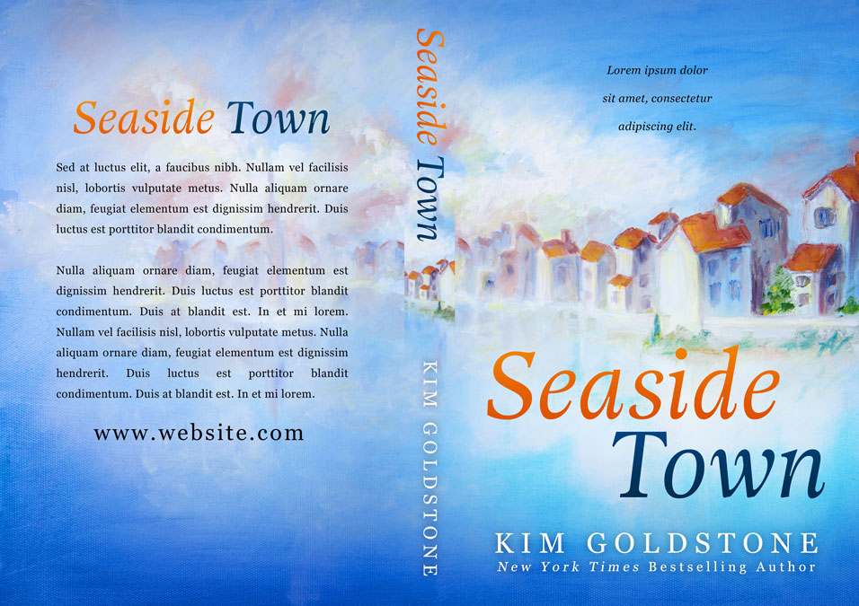 Seaside Town - Women's Fiction / Romance Premade Book Cover For Sale @ Beetiful Book Covers