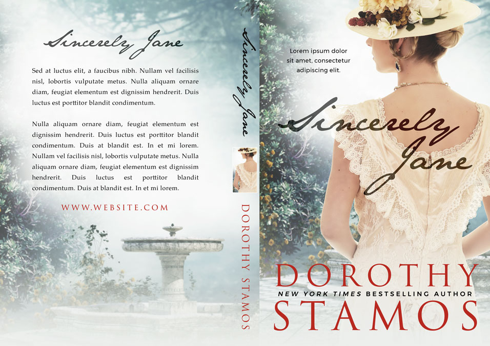 Sincerely Jane - Historical Romance Premade Book Cover For Sale @ Beetiful Book Covers