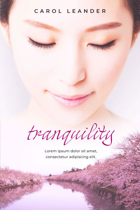 Tranquility - Asian-American Women's Fiction Premade Book Cover For Sale @ Beetiful Book Covers