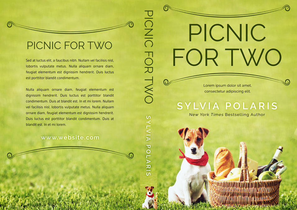 Picnic For Two - Dog Fiction Premade Book Cover For Sale @ Beetiful Book Covers