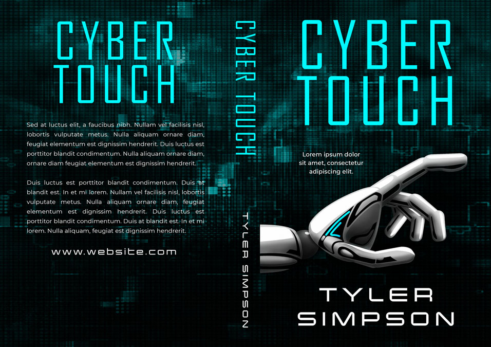 Cyber Touch - Science-Fiction Pre-made Book Cover For Sale