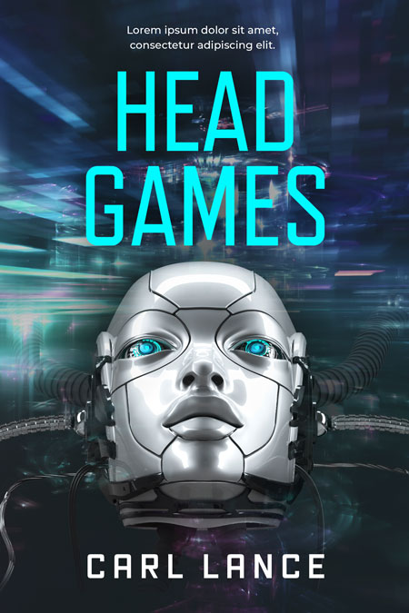 Head Games - Science-Fiction Pre-made Book Cover For Sale