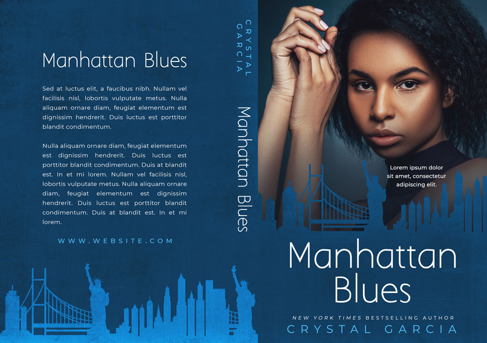 Manhatten Blues - African-American Fiction Premade Book Cover For Sale @ Beetiful Book Covers