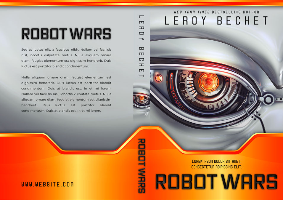 Robot Wars - Science Fiction Book Cover For Sale @ Beetiful Book Covers
