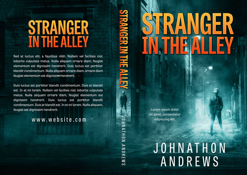 Stranger in the Alley - Mystery / Thriller Premade / Predesigned Book Cover For Sale @ Beetiful Book Covers