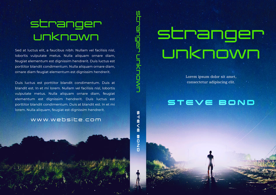 Stranger Unknown - Science-Fiction Pre-made Book Cover For Sale @ Beetiful Book Covers