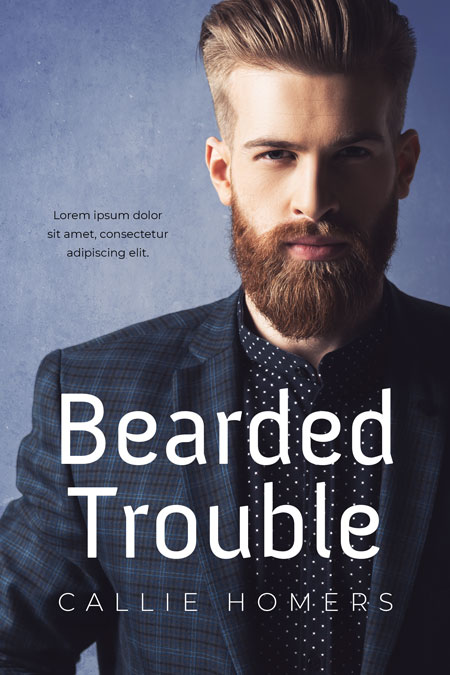 Bearded Trouble - Romance Premade Book Cover For Sale @ Beetiful Book Covers