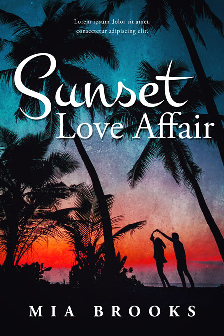 Sunset Love Affair - Contemporary Raomance Premade Book Cover For Sale @ Beetiful Book Covers