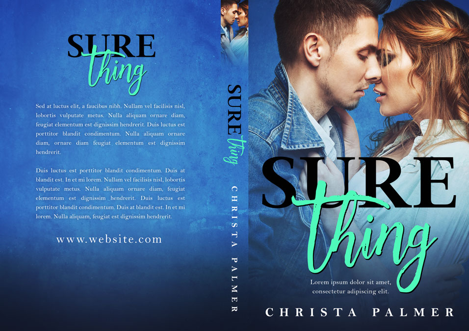 Sure Thing - Contemporary Romance Premade Book Cover For Sale @ Beetiful Book Covers