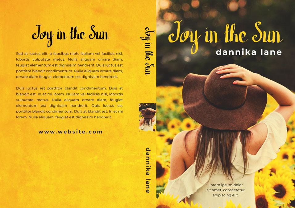 Joy in the Sun - Women's Fiction Premade Book Cover For Sale @ Beetiful Book Covers