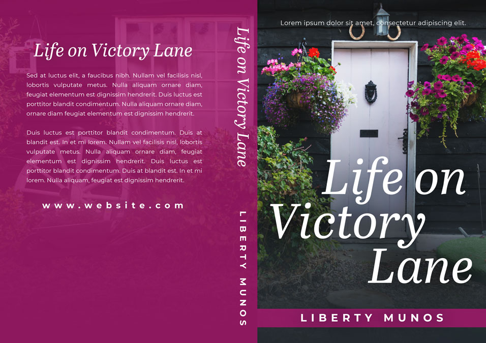 Life on Victory Lane - Women's Fiction Premade Book Cover For Sale @ Beetiful Book Covers