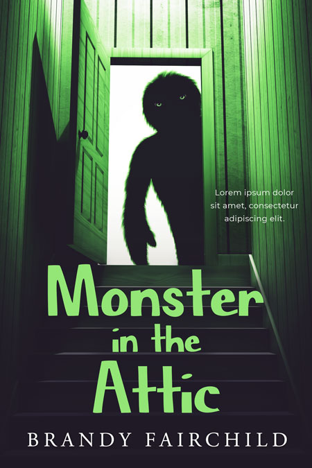 Monster in the Attic - Middle-Grade Fantasy Premade Book Cover For Sale @ Beetiful Book Covers