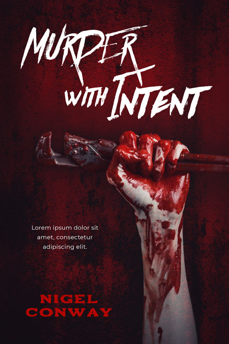 Murder with Intent - Horror Premade Book Cover For Sale @ Beetiful Book Covers