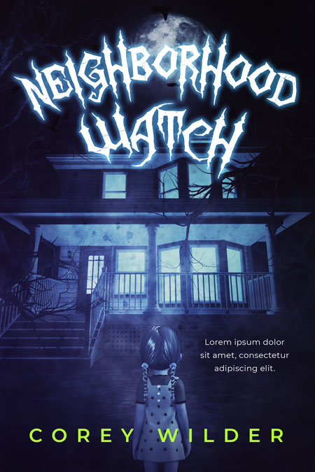 Neighborhood Watch - Middle-Grade Horror Fantasy Premade Book Cover For Sale @ Beetiful Book Covers