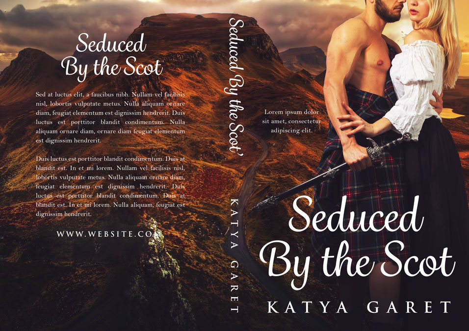 Seduced by the Scot - Historical Romance Premade Book Cover For Sale @ Beetiful Book Covers