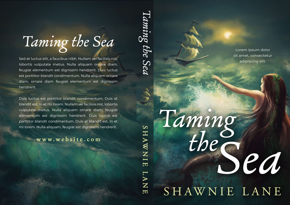Taming the Sea - Fantasy / Mermaid Premade Book Cover For Sale @ Beetiful Book Covers