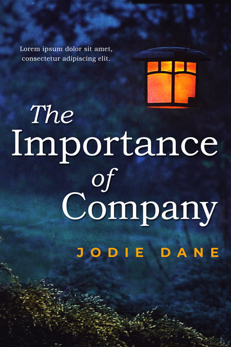 The Importance of Company - Fiction Premade Book Cover For Sale @ Beetiful Book Covers