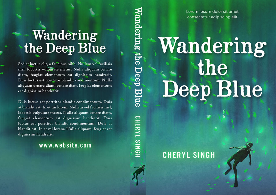 Wandering the Deep Blue - Middle-Grade Premade Book Cover For Sale @ Beetiful Book Covers