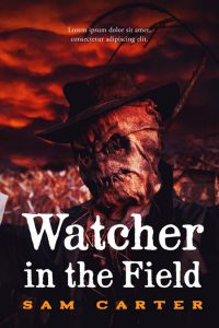 Watcher in the Field - Horror Premade Book Cover For Sale @ Beetiful Book Covers