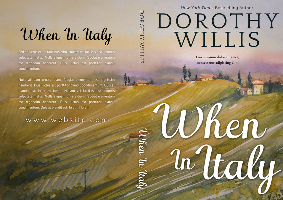 When In Italy - Fiction Premade Book Cover For Sale @ Beetiful Book Covers