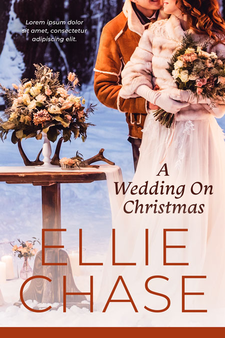 A Wedding On Christmas - Christmas Romance Premade Book Cover For Sale @ Beetiful Book Covers
