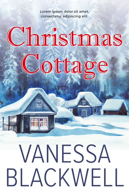Christmas Cottage - Christmas Fiction Premade Book Cover For Sale @ Beetiful Book Covers
