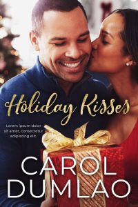 Holiday Kisses - African-American Christmas Romance Premade Book Cover For Sale @ Beetiful Book Covers