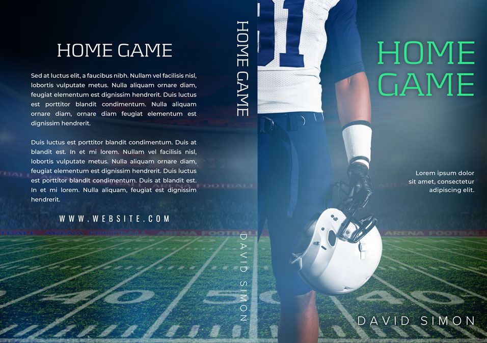 Home Game - Sports Romance Premade Book Cover For Sale @ Beetiful Book Covers